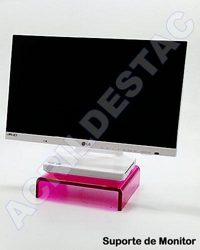 Suporte de mesa para Monitor e notebook de acrilico cristal transparente 6mm