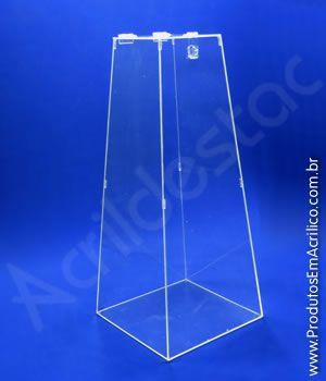 Urna de acrilico Piramide Cristal 100cm alt - 1 Metro Venda para locação e promoção