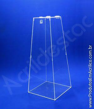 Urna de acrilico Piramide Cristal 100cm alt - 1 Metro com 4mm para sorteio e eventos