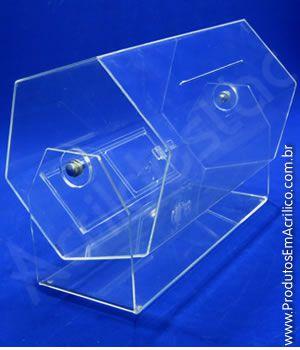 Urna de acrilico Fabrica de Urna Giratoria 80x45 cm Venda para locação