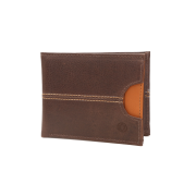Carteira em Couro Café com Porta Cartões Caramelo 405ca