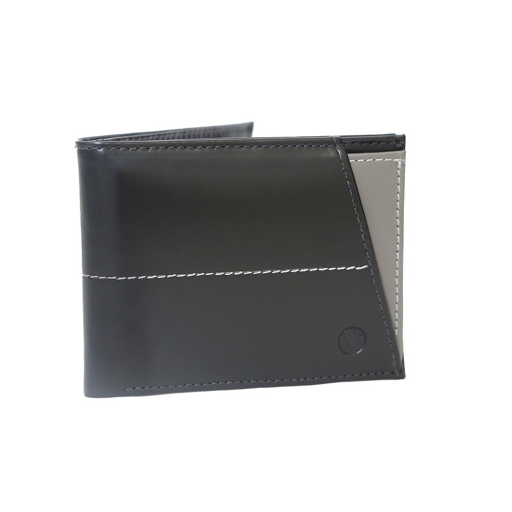 Carteira em Couro Café com Porta Cartões Cinza 410ca