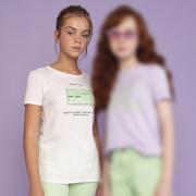 Camiseta Dimy Candy Branca Positive Mind TSH82784br