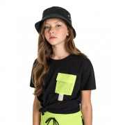 Camiseta Gloss Bolso Neon Preto 31277