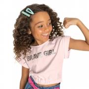 Camiseta Gloss Brave Girl Rosa 31248