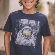 Camiseta King E Joe Astronauta Marinho Ca03028K
