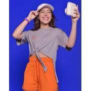 Camiseta Menina Amofany Cinza Smile Its Free T700577