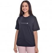Camiseta Menina Amofany Dont Touch My Pizza Preta T700590