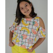 Camiseta L2M Kids Frutas 4094