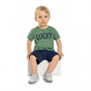 Camiseta Menino Quimby Lucky Verde 28807
