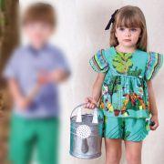 Conjunto Menina Precoce Plantação Verde 2048