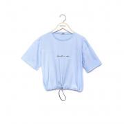 Cropped Amofany Baby Its A Vibe Azul T700598