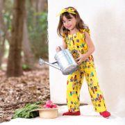 Macacão Menina Precoce Floricultura Amarelo 2023