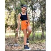 Short Amofany Laranja com Estampa T500073