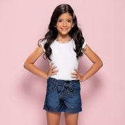 Short Menina Mania Kids Jeans Clochard 60887