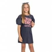 Vestido Gloss em Moletom Enjoy This Azul 31253az