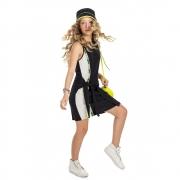 Vestido Gloss Malha Canelada Preta 31264
