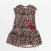 Vestido Menina Animê Onça P3582