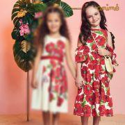 Vestido Menina Animê Papoulas N0308