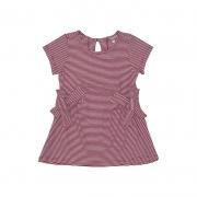 Vestido Menina Beabá Listrado com Laços Vermelho 808010N
