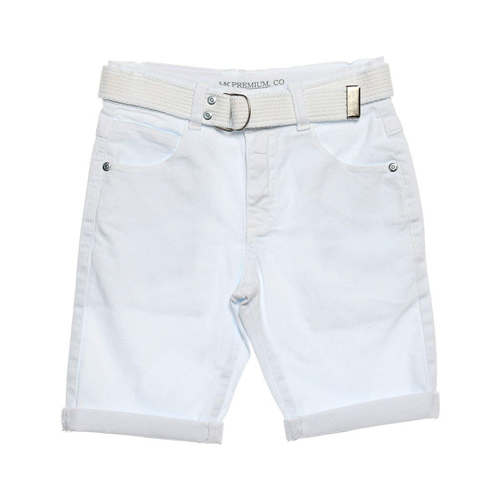 Bermuda Menino Mania Kids Branco 90615Bc