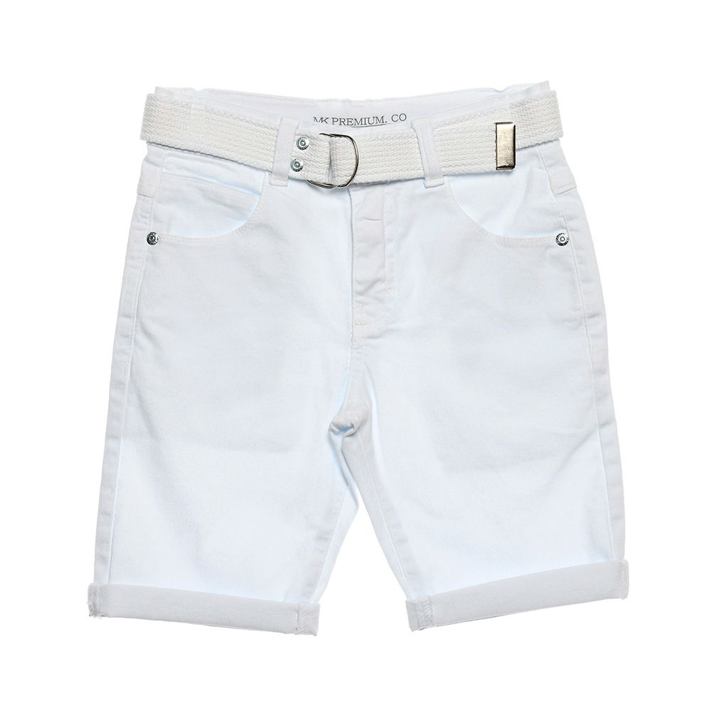 Bermuda Menino Mania Kids Branco 90615Bcg