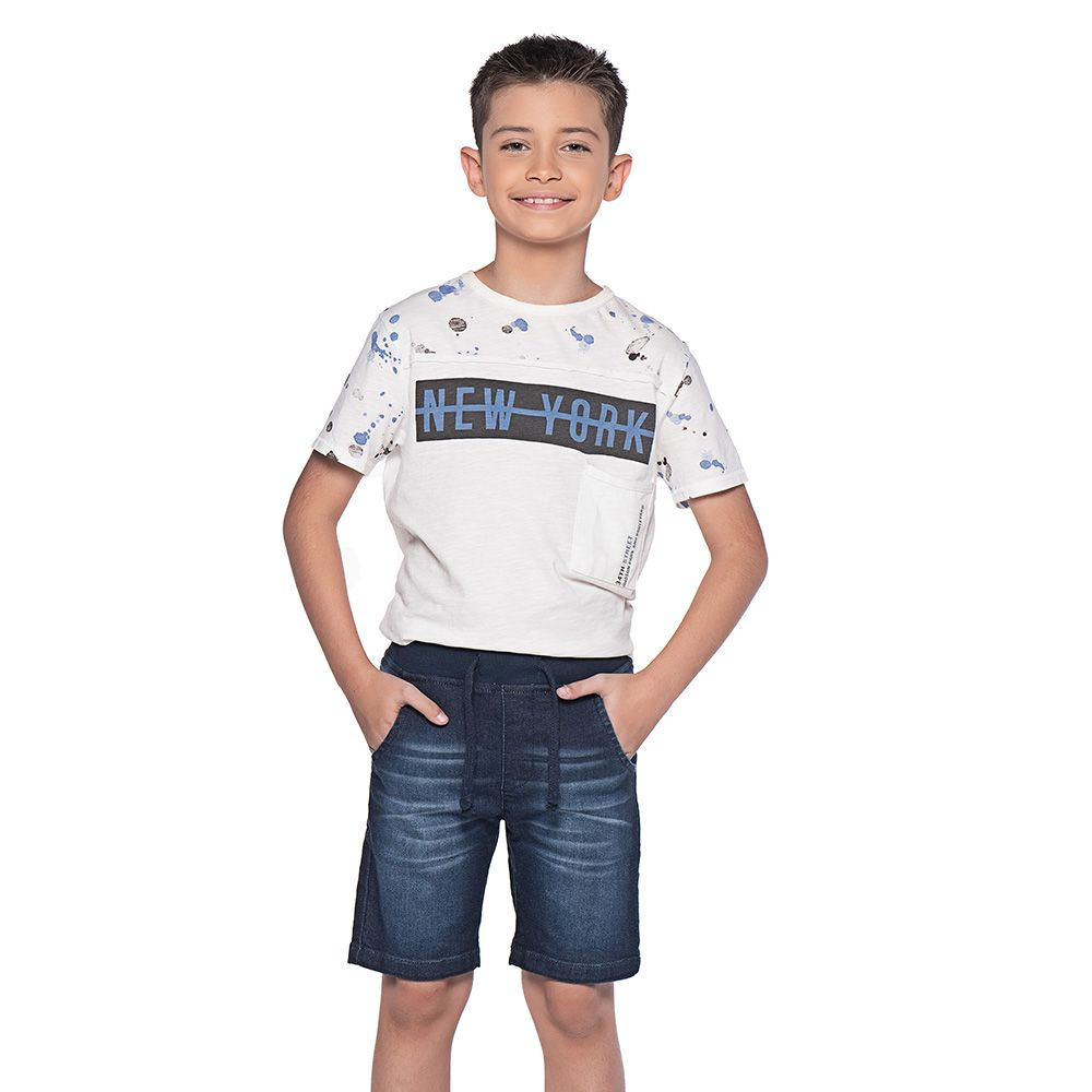 Bermuda Menino Mania Kids Moletom 90576