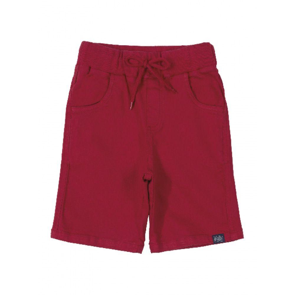 Bermuda Menino Quimby em Sarja Vermelha 27999