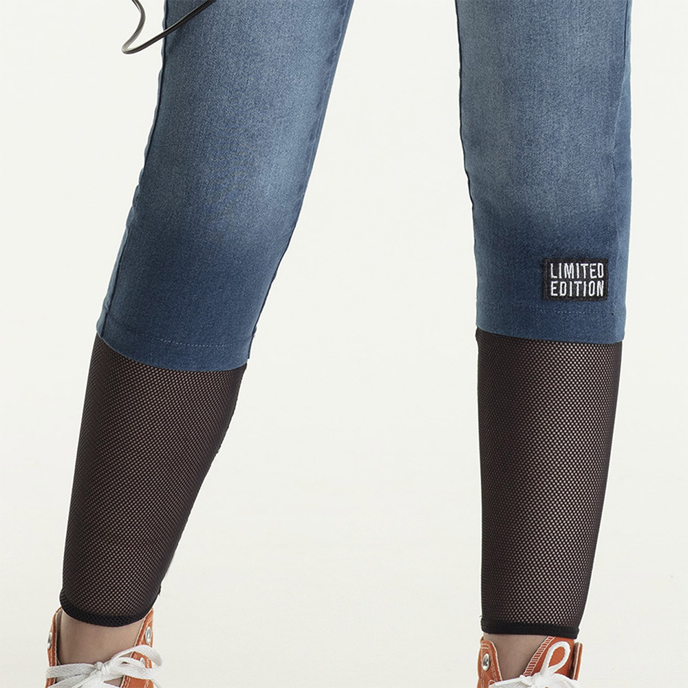 Calça Bobbylulu Jeans Com Tela B21509