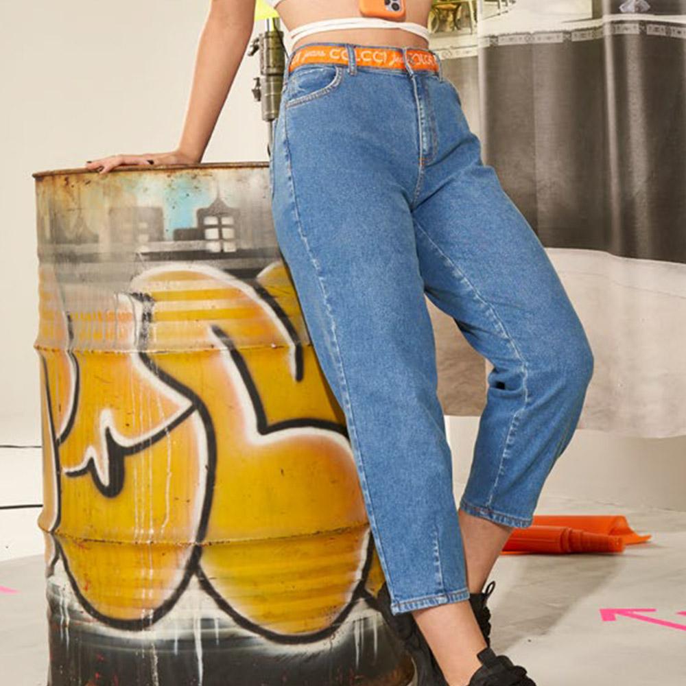 Calça Colcci Fun Jeans Anitta com Detalhe Laranja 25300565