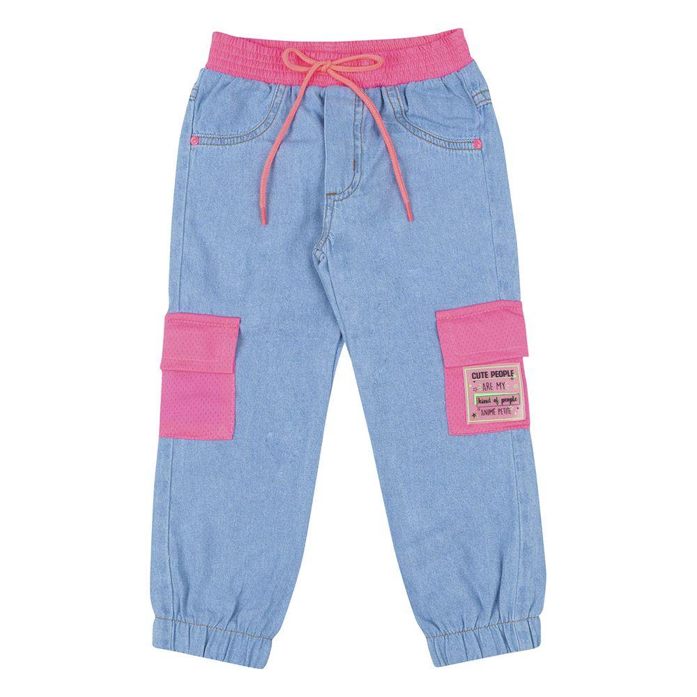 Calça Animê Jeans com Bolso De Tela P3551