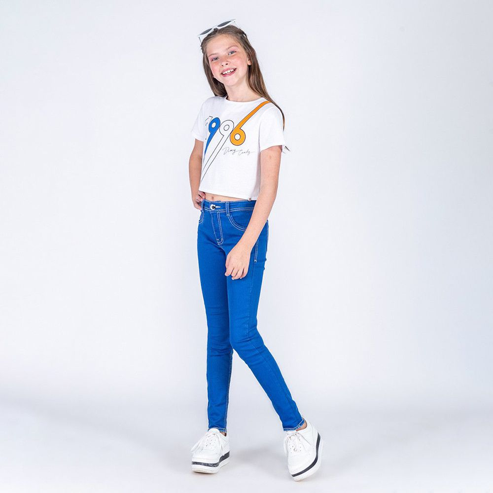 Calça Menina Dimy Candy Jeans Azul Bic 81486