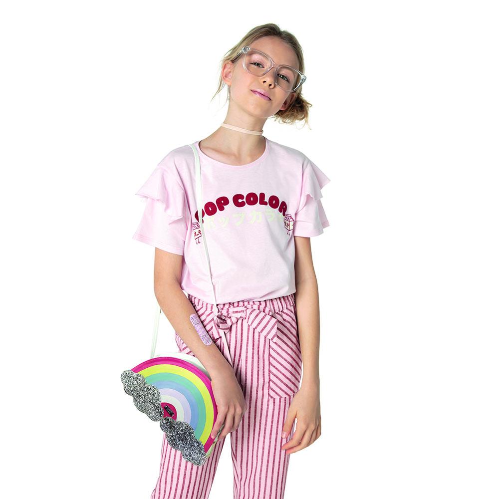 Calça Menina Dimy Candy Listra Rosa e Vermelho 81340