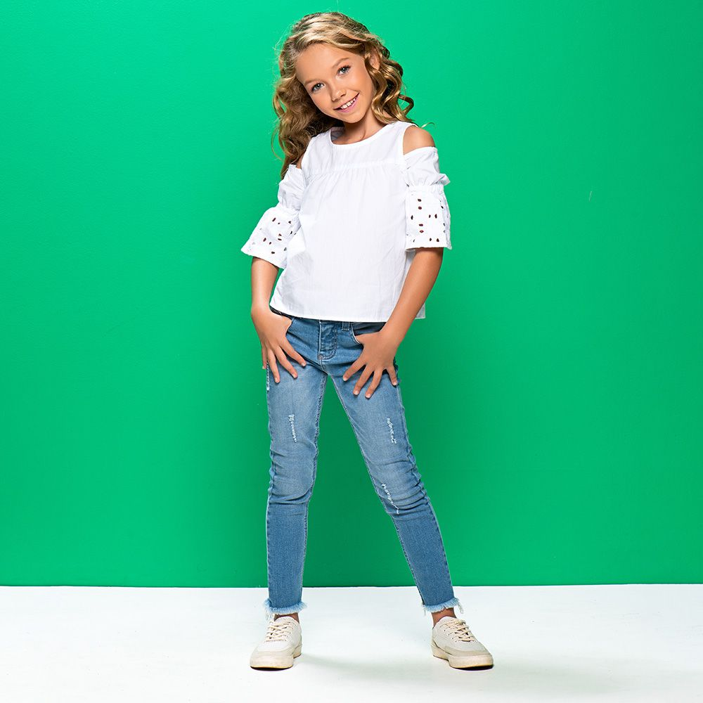 Calça Menina Mania Kids Jeans Médio 60814