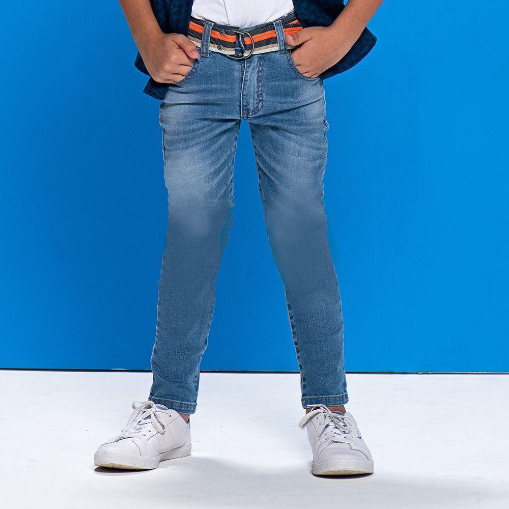 Calça Menino Mania Kids Jeans com Cinto 90633G