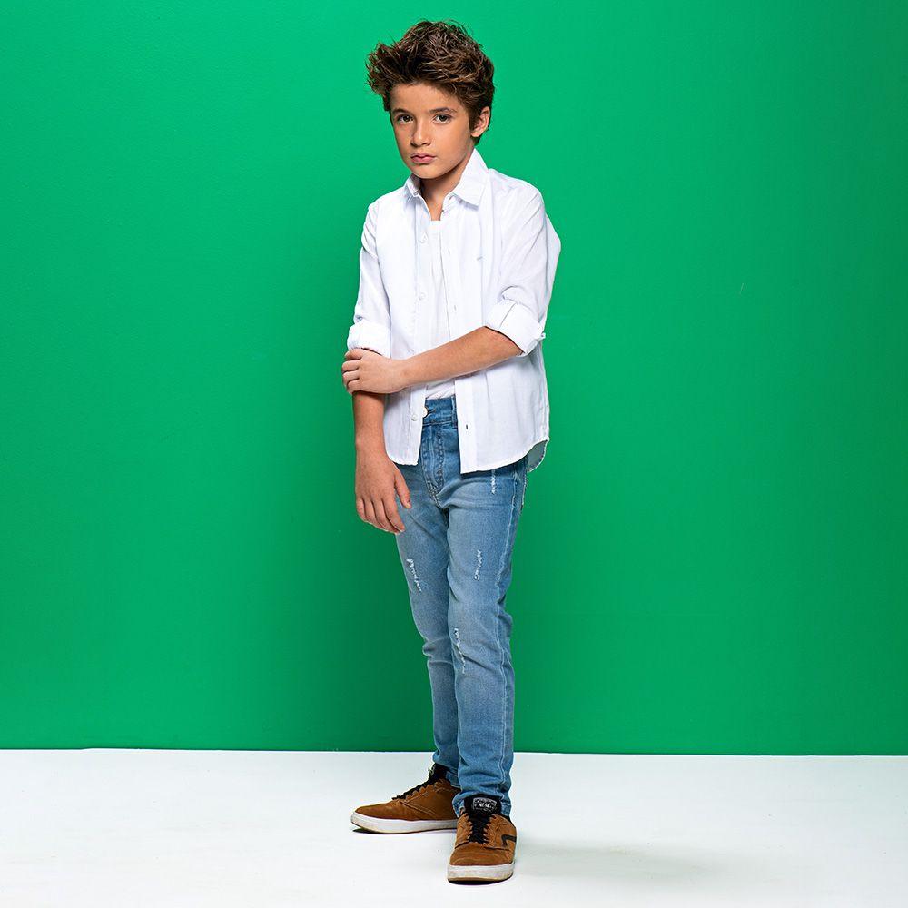 Calça Menino Mania Kids Jeans Eco 90620G