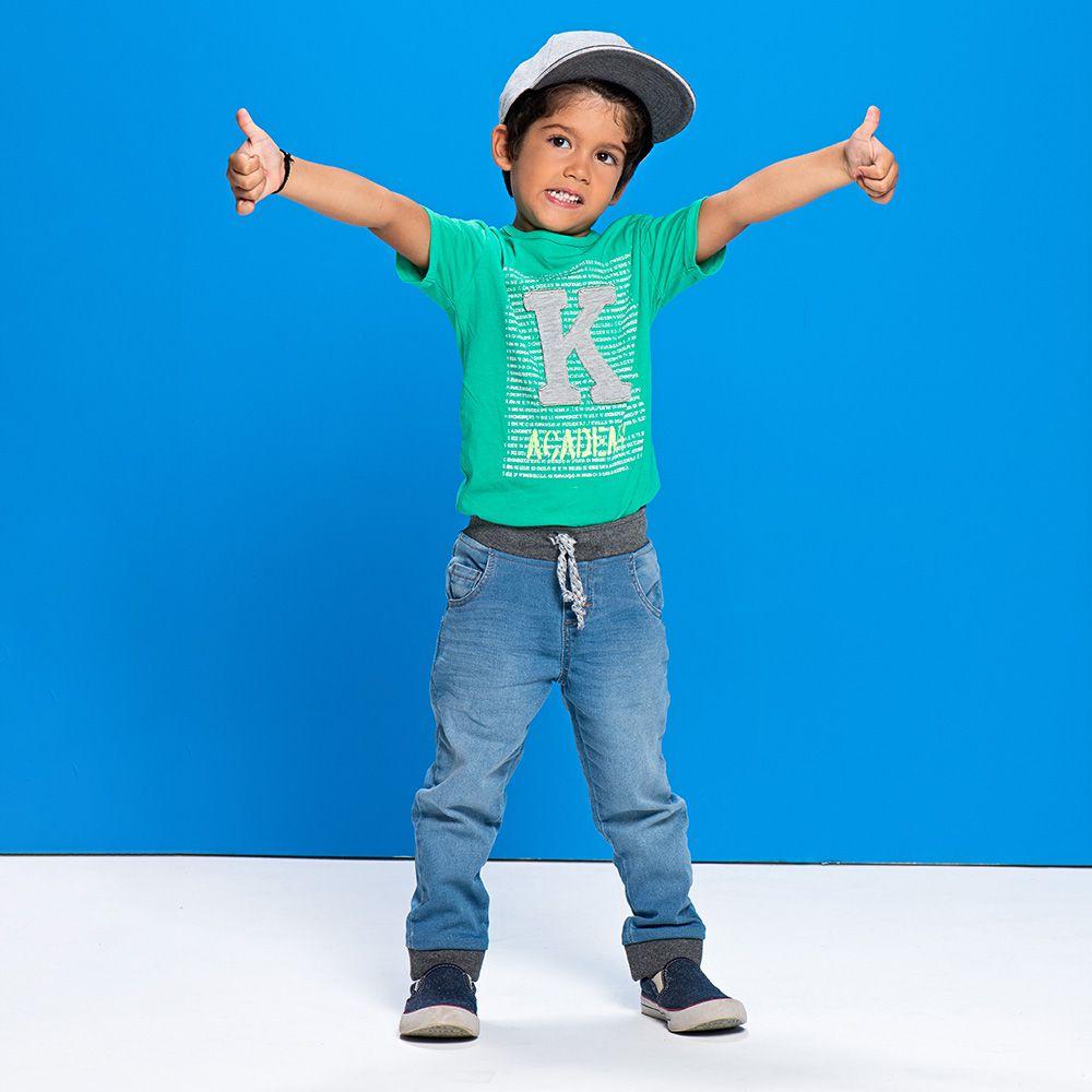 Calça Menino Mania Kids Jeans Jersey 80609