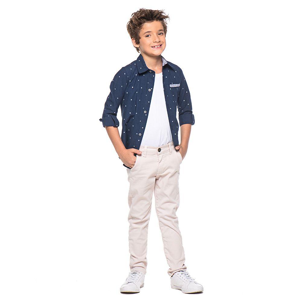 Calça Menino Mania Kids Khaki Social 90618Cqg