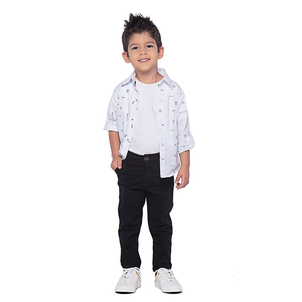 Calça Menino Mania Kids Preta 90557Prtg