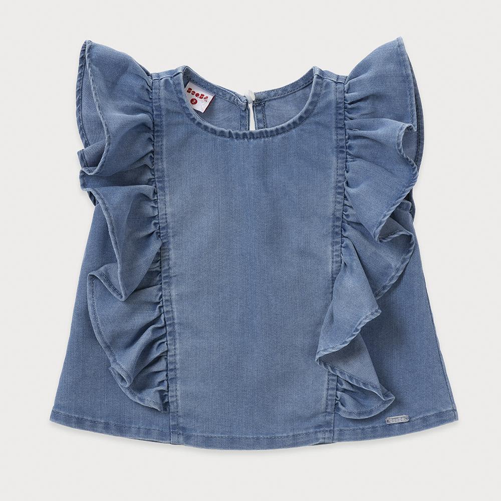 Camisa Beabá Jeans com Babados 818046