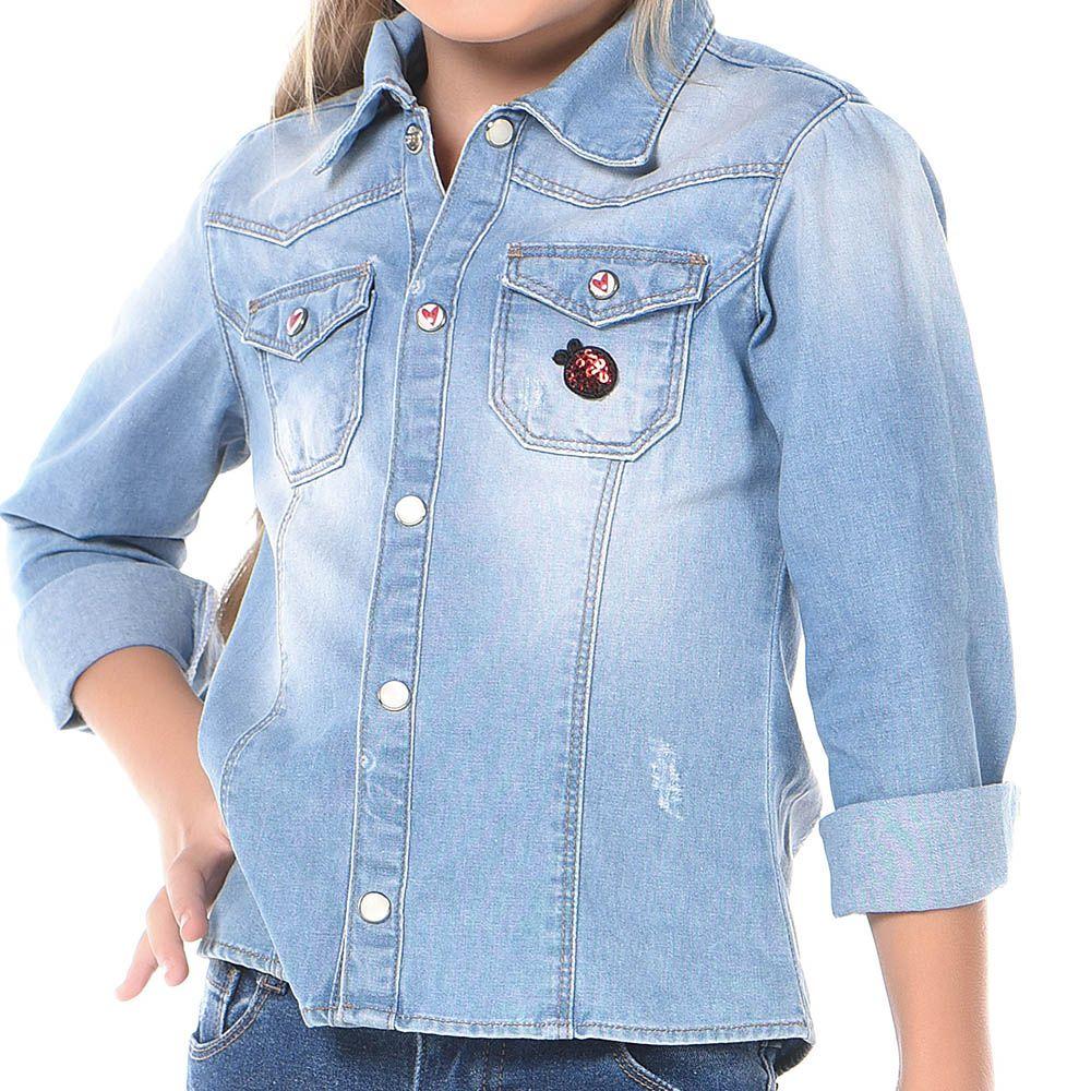 Camisa Manga Longa Mania Kids Jeans 50550