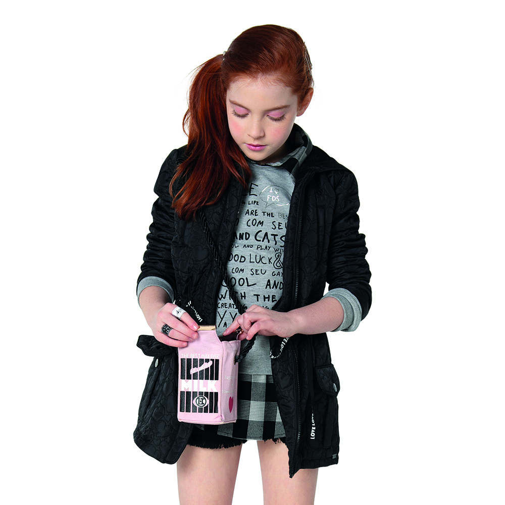 Camisa Menina Dimy Candy Moletom Xadrez 81244