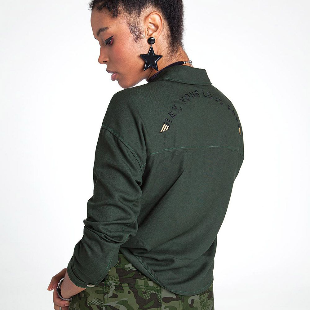 Camisa Menina Nuv On Verde Militar 60282
