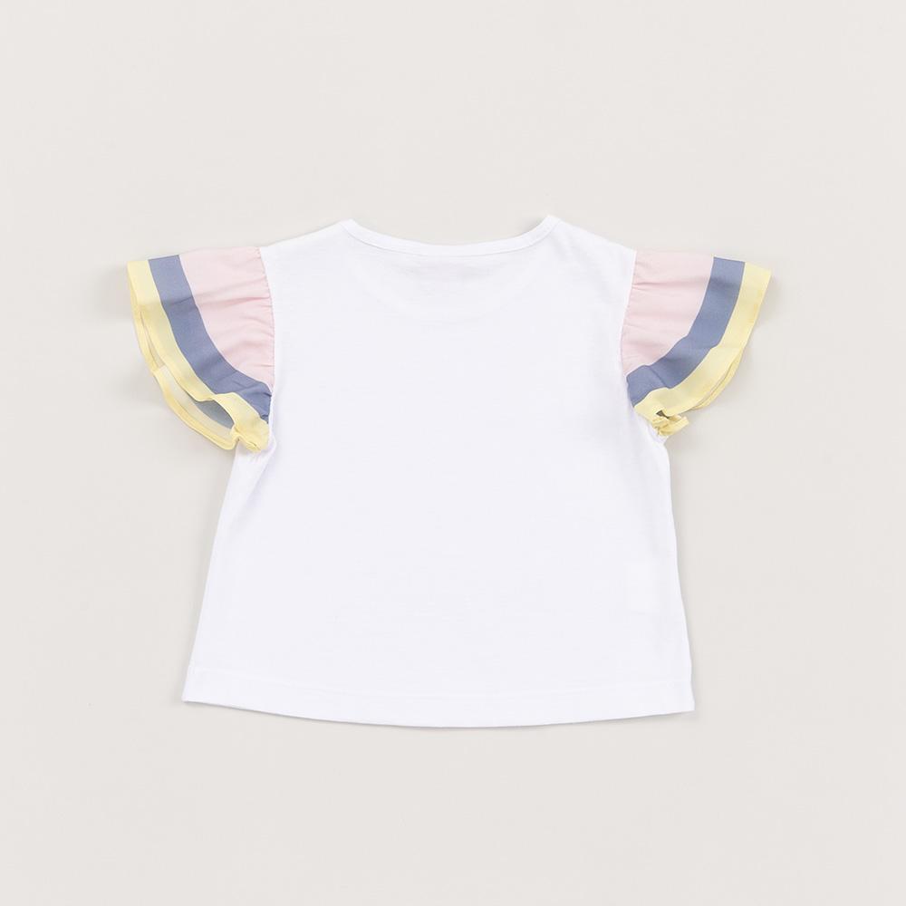 Camiseta Beabá Branca com Manga Babado 818011A