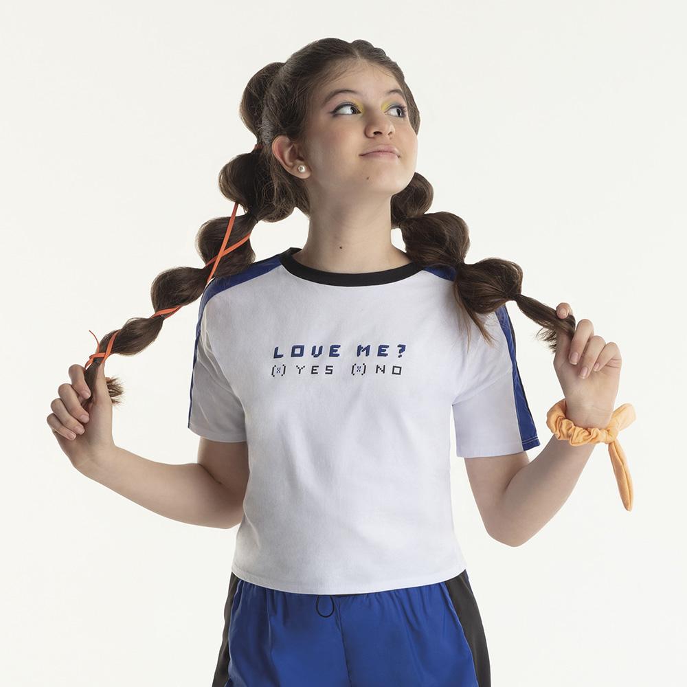 Camiseta Bobbylulu Love Me Look B21684