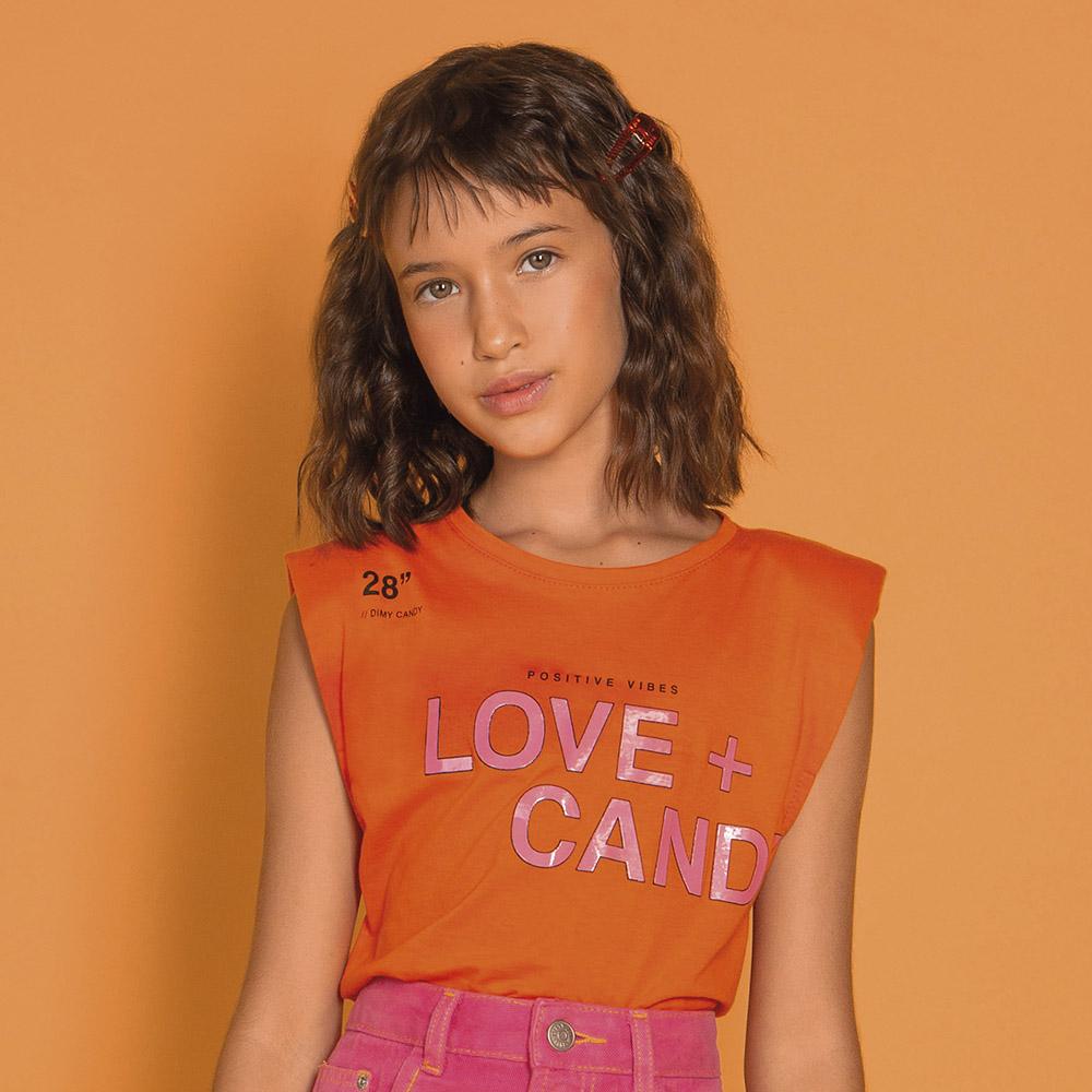 Camiseta Dimy Candy Laranja Sunrise 82693