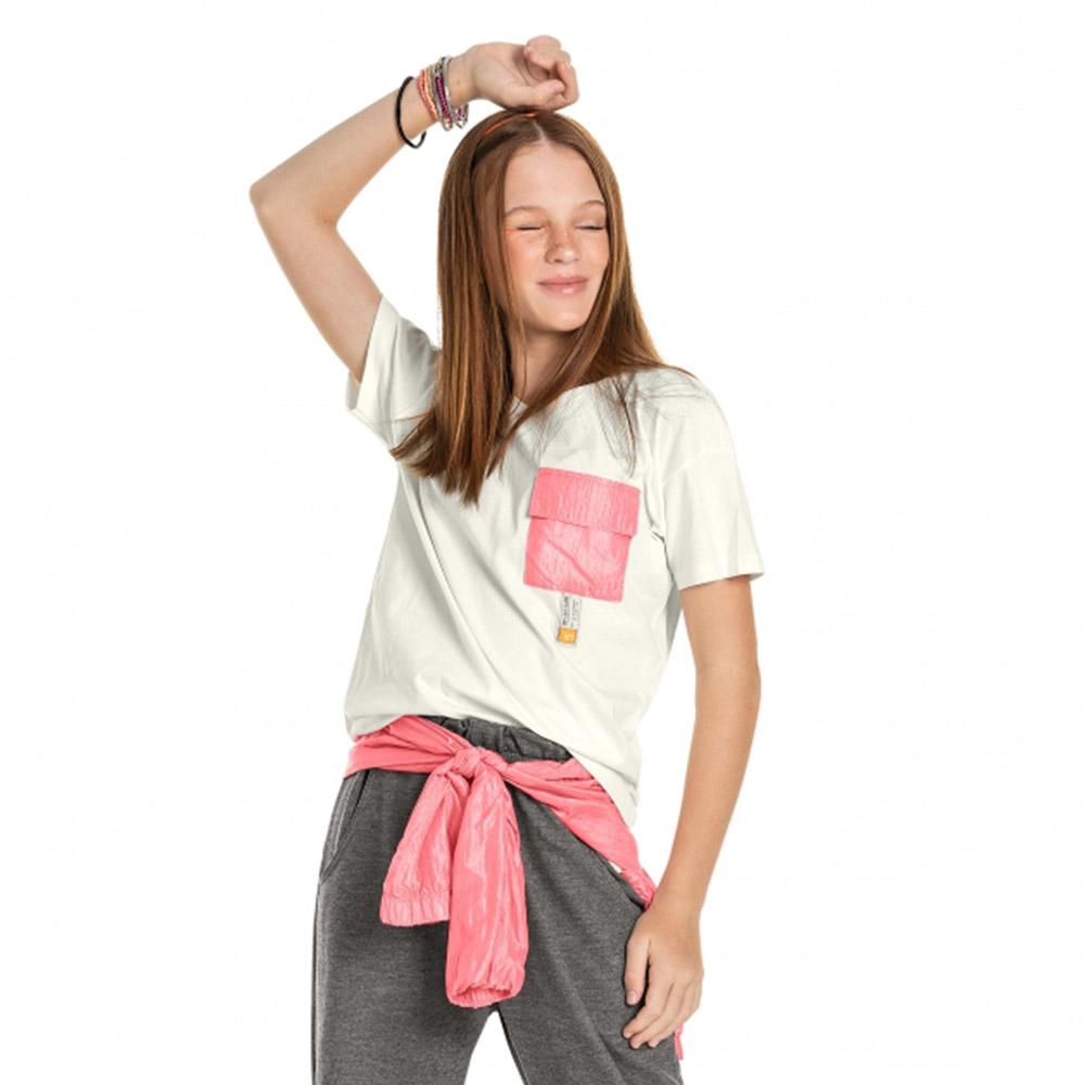 Camiseta Gloss Bolso Neon Branco 31277