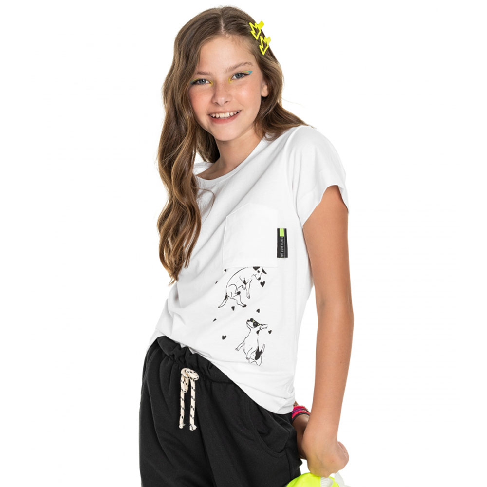 Camiseta Gloss Branca Cachorro 31281