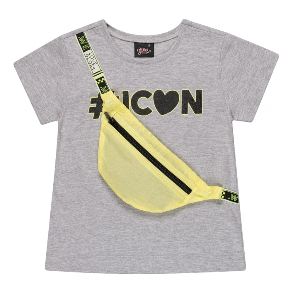 Camiseta Gloss Icon Cinza 31249cz