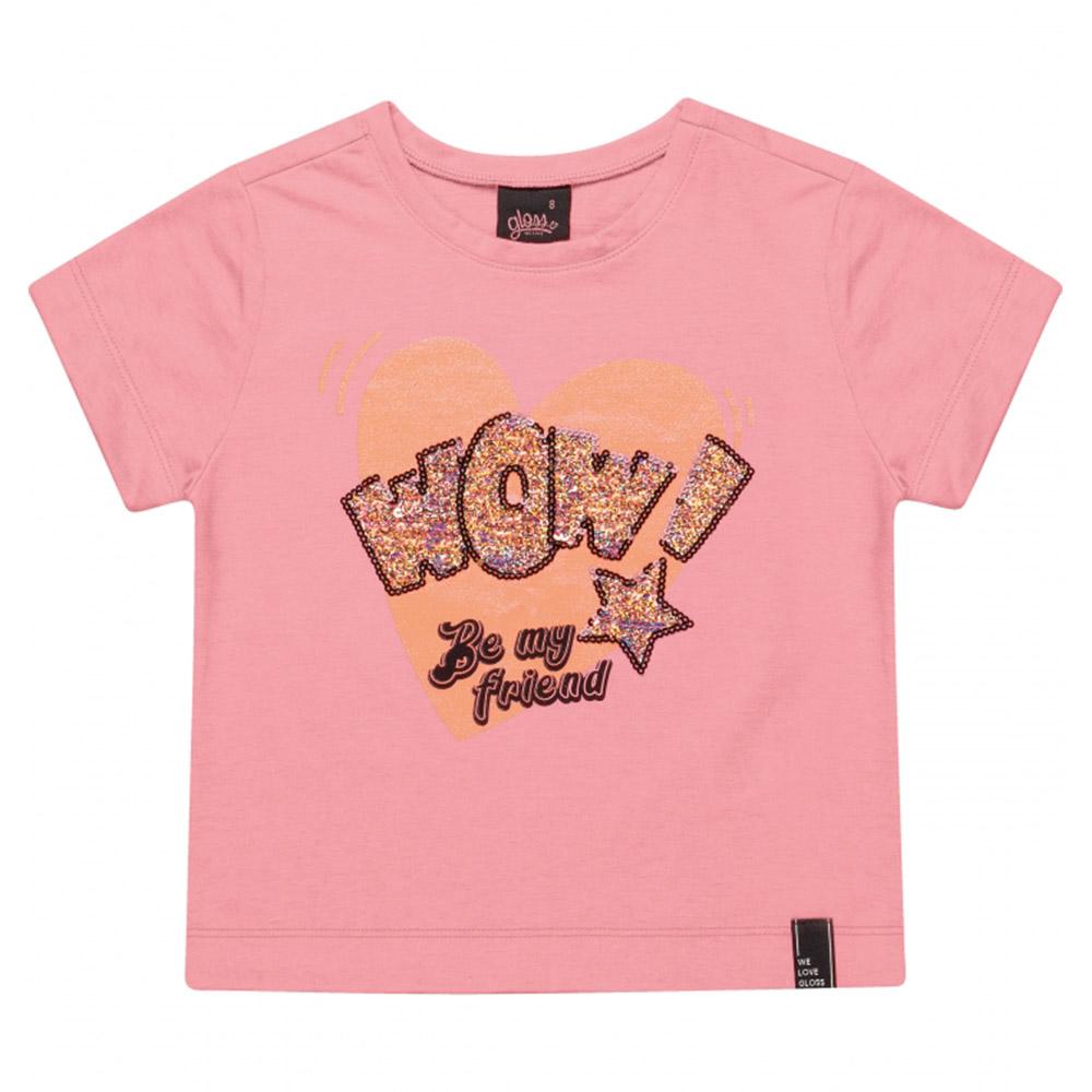 Camiseta Gloss Wow Rosa 31243rs